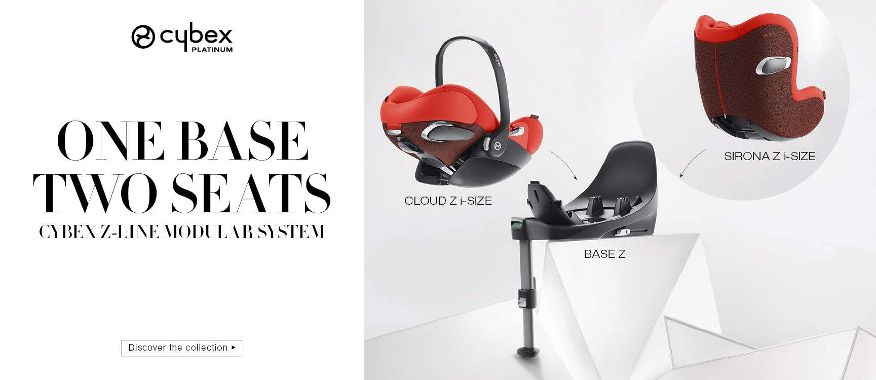 Module Car Seats CLoud Z + Sirona Z combined with Base Z